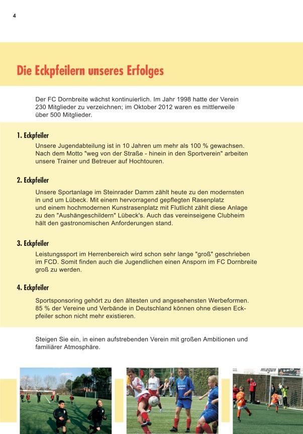Förderverein FC-Dornbreite Broschüre 4