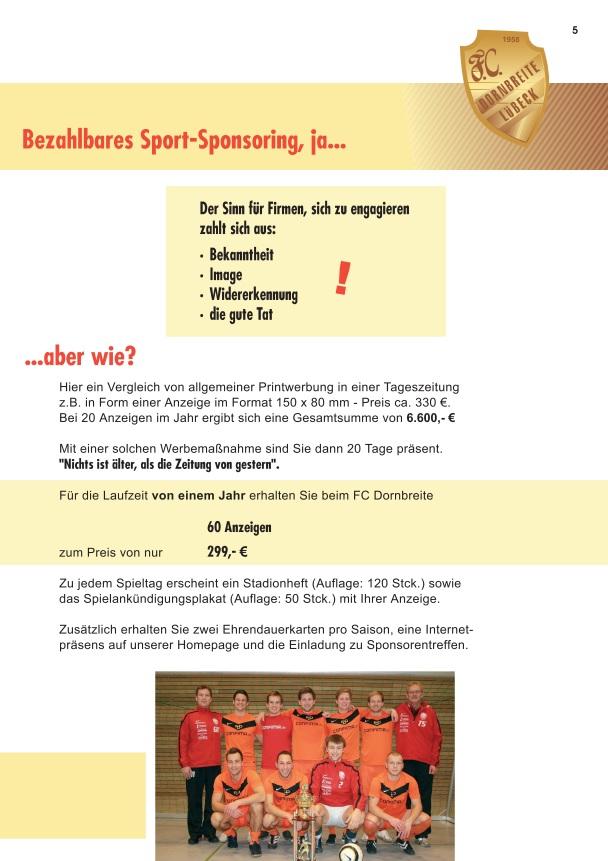 Förderverein FC-Dornbreite Broschüre 5