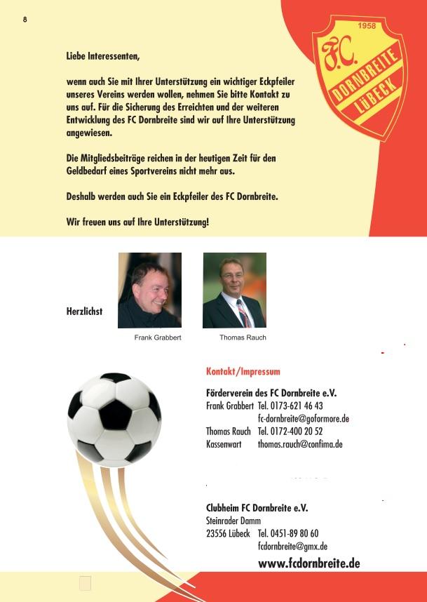 Förderverein FC-Dornbreite Broschüre 8